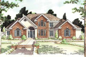 Architectural House Design - Classical Exterior - Front Elevation Plan #1029-48