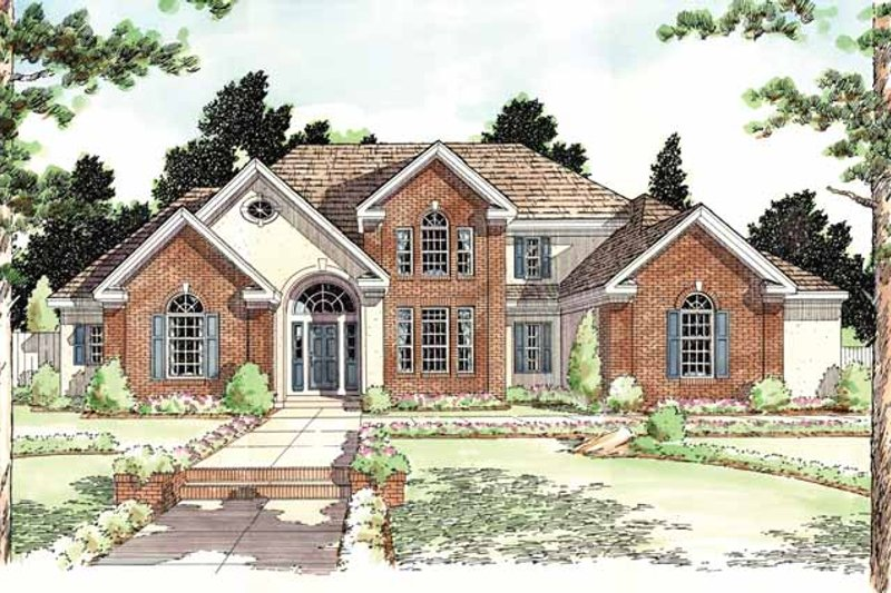 Dream House Plan - Classical Exterior - Front Elevation Plan #1029-48