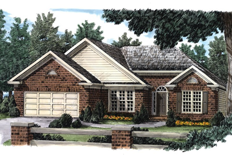 Ranch Exterior - Front Elevation Plan #927-54