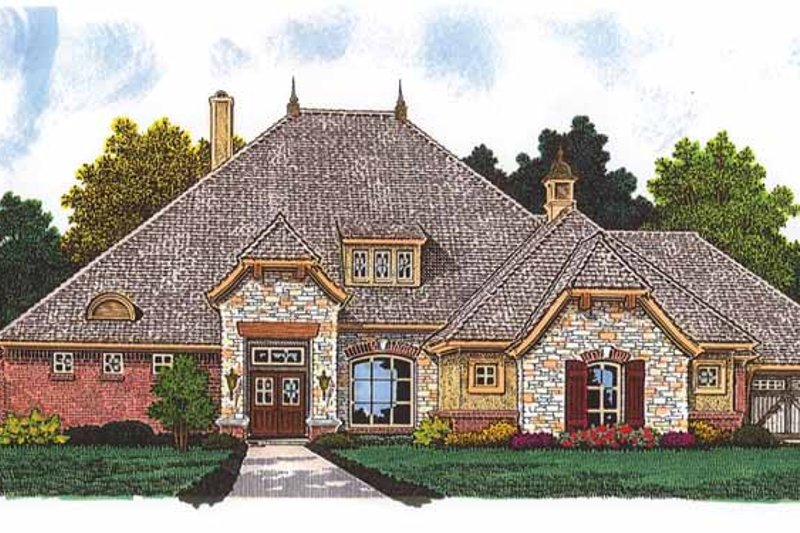 Architectural House Design - European Exterior - Front Elevation Plan #310-1238
