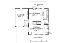 Colonial Floor Plan - Main Floor Plan Plan #1053-63
