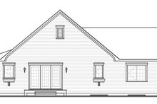 House Plan Design - Ranch Exterior - Rear Elevation Plan #23-2565