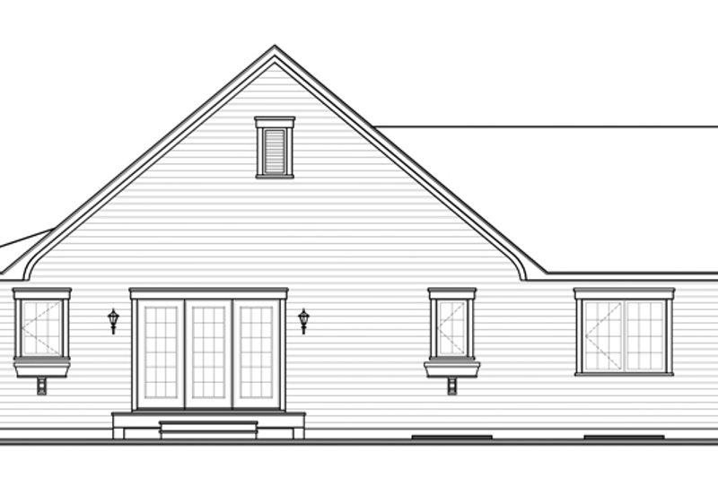 Colonial Exterior - Rear Elevation Plan #23-2565 - Houseplans.com