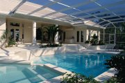 Mediterranean Style House Plan - 3 Beds 3 Baths 2794 Sq/Ft Plan #930-24 Exterior - Rear Elevation