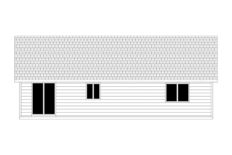 Ranch Exterior - Rear Elevation Plan #943-41 - Houseplans.com