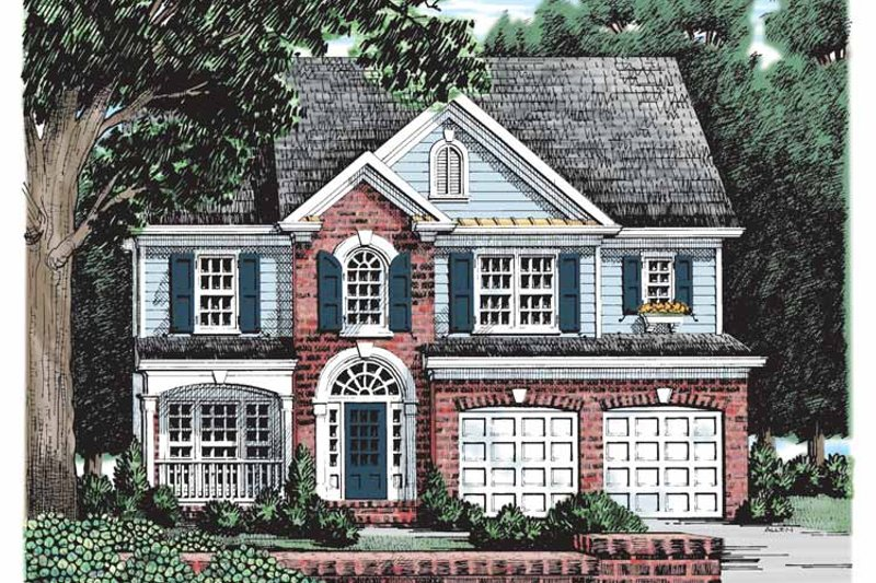 Colonial Exterior - Front Elevation Plan #927-161
