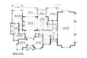 Craftsman Style House Plan - 5 Beds 6.5 Baths 8688 Sq/Ft Plan #920-49 Floor Plan - Main Floor Plan