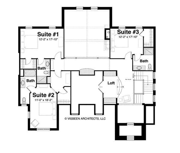 Country Floor Plan - Upper Floor Plan Plan #928-265