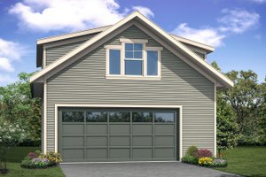 Country Exterior - Front Elevation Plan #124-1100
