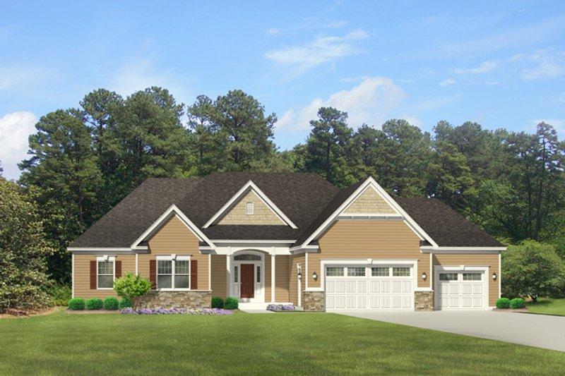Colonial Exterior - Front Elevation Plan #1010-88 - Houseplans.com