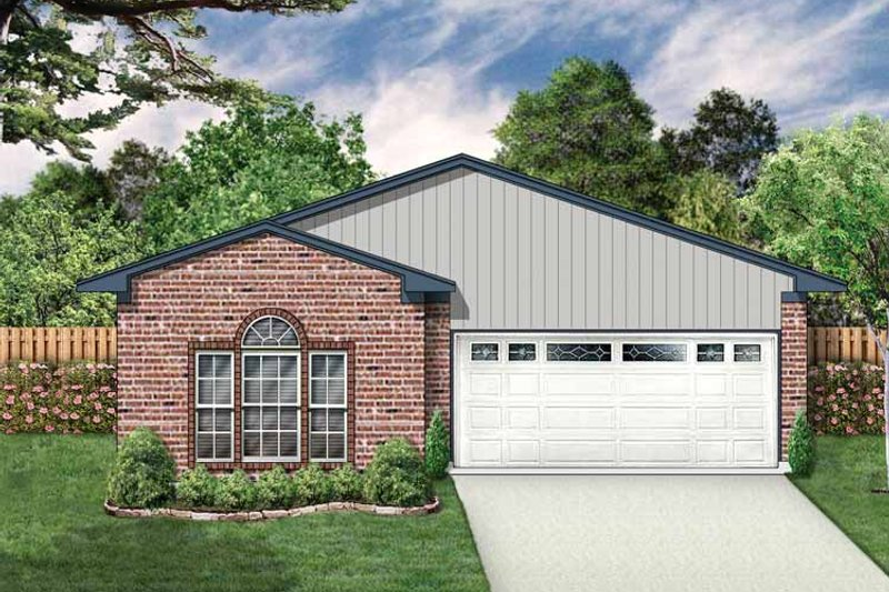 Ranch Exterior - Front Elevation Plan #84-662