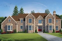 European Exterior - Front Elevation Plan #20-2210