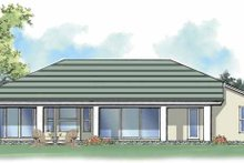 House Plan Design - Mediterranean Exterior - Rear Elevation Plan #930-375