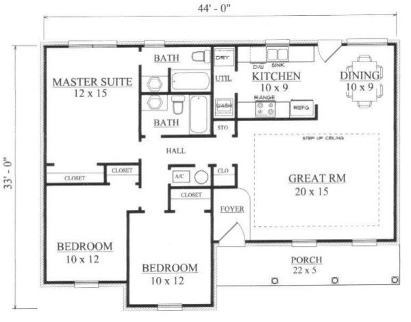 European Floor Plan - Main Floor Plan Plan #14-247