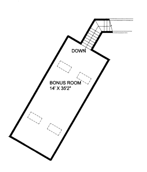 Ranch Floor Plan - Other Floor Plan Plan #117-848
