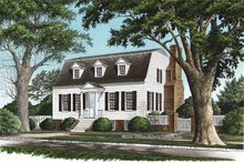 House Plan Design - Colonial Exterior - Front Elevation Plan #137-351