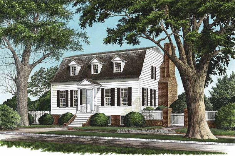 Colonial Exterior - Front Elevation Plan #137-351