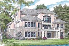 Architectural House Design - Mediterranean Exterior - Rear Elevation Plan #453-353