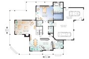 Farmhouse Style House Plan - 4 Beds 3.5 Baths 2992 Sq/Ft Plan #23-383 Floor Plan - Main Floor Plan