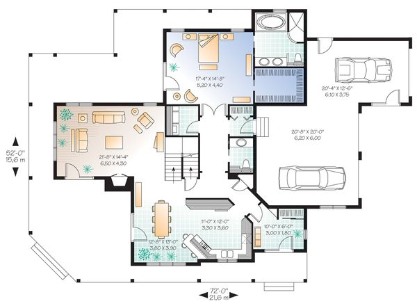 House Plan Design - Canadian Country style house plan farm home plan