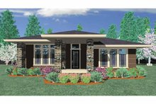 Prairie Exterior - Front Elevation Plan #509-412