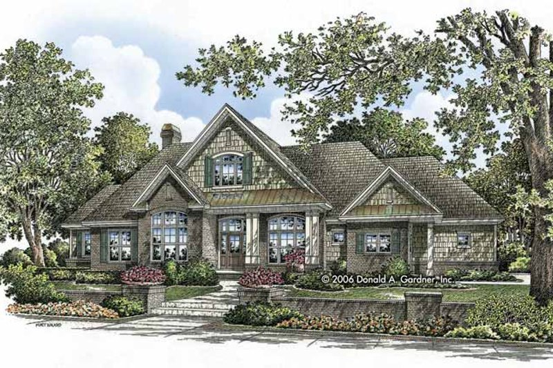 Architectural House Design - Craftsman Exterior - Front Elevation Plan #929-803