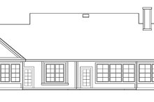 Country Exterior - Rear Elevation Plan #472-207