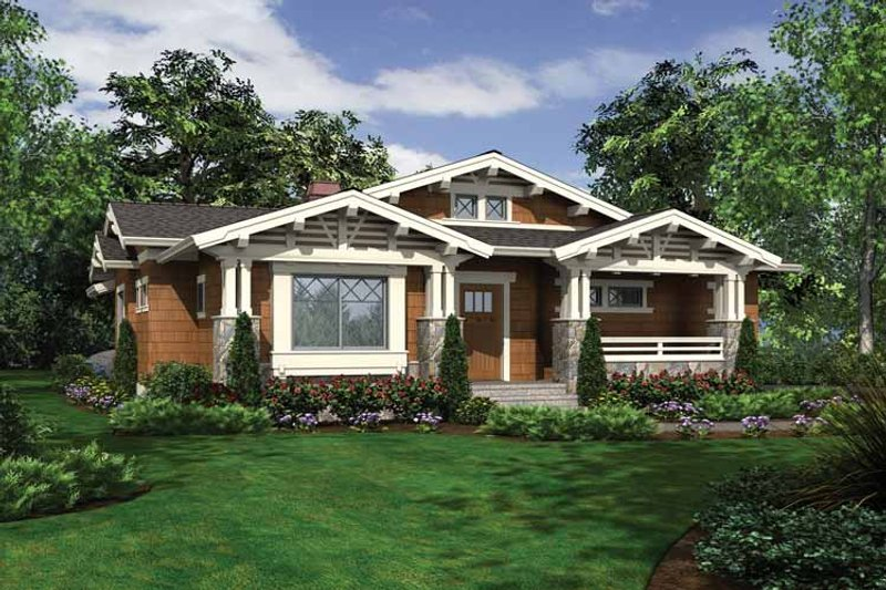 Craftsman Exterior - Front Elevation Plan #132-528