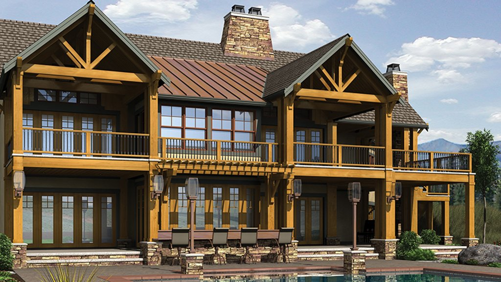 Craftsman style house plan 4 beds 4 5 baths 5255 sq ft for Craftsman vs mission style