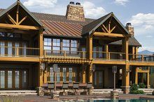 Dream House Plan - Craftsman Exterior - Rear Elevation Plan #132-560
