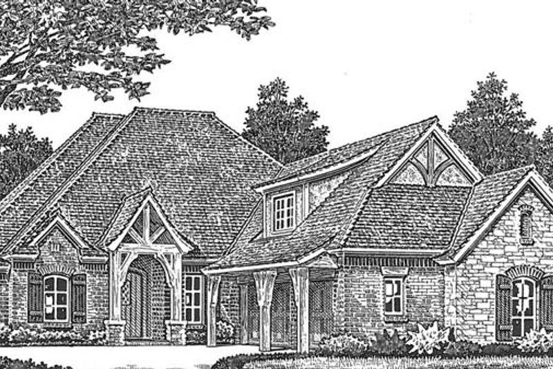 Architectural House Design - European Exterior - Front Elevation Plan #310-1275