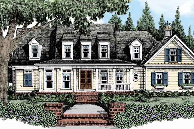 House Plan Design - Traditional Exterior - Front Elevation Plan #927-482