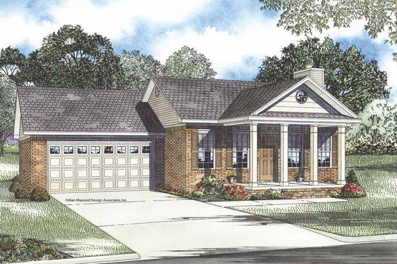 Classical Exterior - Front Elevation Plan #17-3243 - Houseplans.com