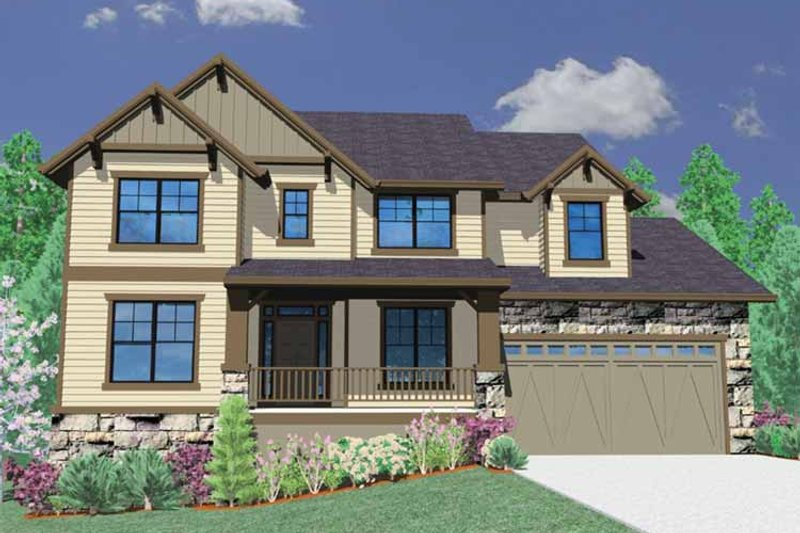 Traditional Exterior - Front Elevation Plan #509-327