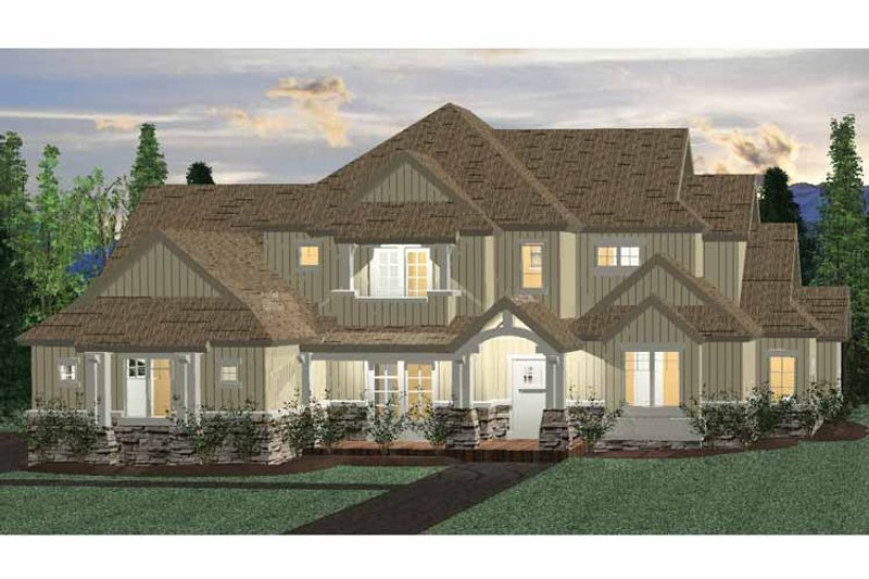 Architectural House Design - Colonial Exterior - Front Elevation Plan #937-35