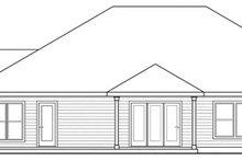Home Plan - Ranch Exterior - Rear Elevation Plan #124-826