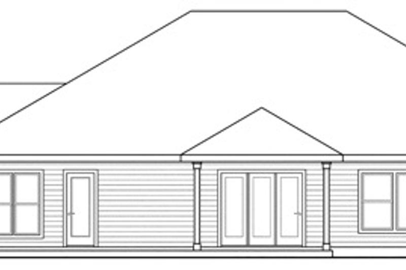 Ranch Exterior - Rear Elevation Plan #124-826 - Houseplans.com