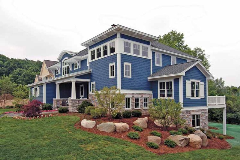 Craftsman Exterior - Rear Elevation Plan #928-18 - Houseplans.com