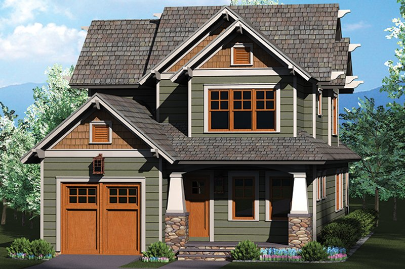 Craftsman Exterior - Front Elevation Plan #453-620 - Houseplans.com