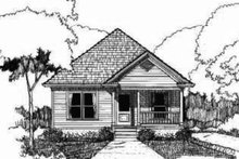 Cottage Exterior - Front Elevation Plan #79-115