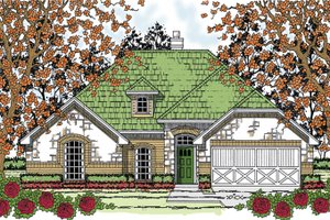 Country Exterior - Front Elevation Plan #42-719