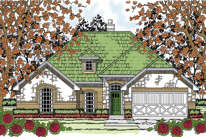 House Plan Design - Country Exterior - Front Elevation Plan #42-719