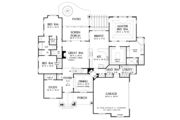 Craftsman Style House Plan - 4 Beds 3.5 Baths 3032 Sq/Ft Plan #929-908 Floor Plan - Main Floor