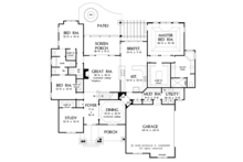Craftsman Floor Plan - Main Floor Plan Plan #929-908