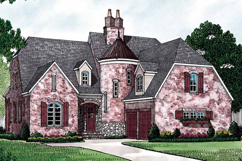 Country Exterior - Front Elevation Plan #453-155