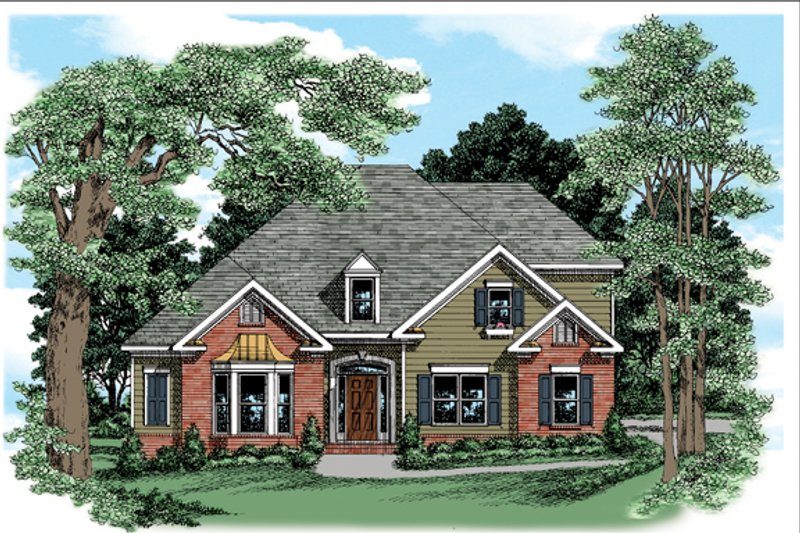 Traditional Exterior - Front Elevation Plan #927-383 - Houseplans.com