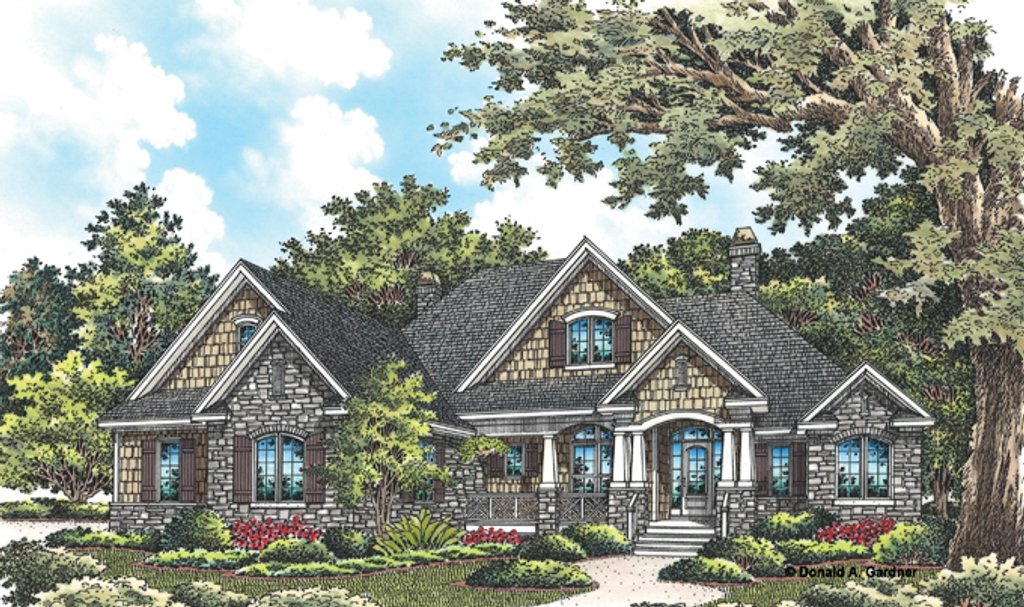 Craftsman style house plan 4 beds 3 baths 2491 sq ft for Craftsman vs mission style