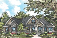 Craftsman Exterior - Front Elevation Plan #929-949