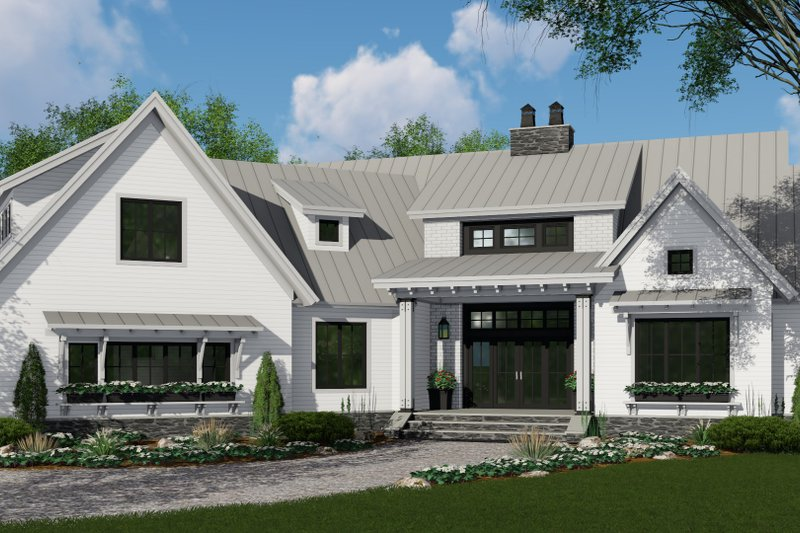 Architectural House Design - Farmhouse Exterior - Front Elevation Plan #51-1135