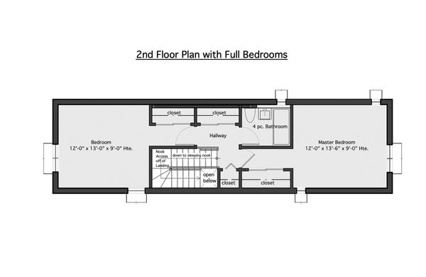 Modern Floor Plan - Upper Floor Plan #905-5